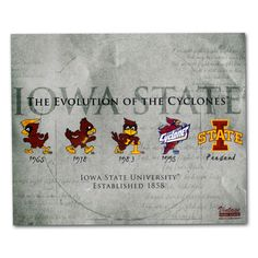 Evolution of the Cyclones Print (16x20) | Iowa State University Bookstore