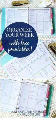 Organize Your Week with a FREE Time Blocking Printable is part of Organization Printables Girls - Do you have trouble fitting everything into your day Time management is a HUGE challenge for most of us, but time blocking can help To Do Planner, Planner Pages, Life Planner, Happy Planner, Life Binder, Agenda Planner, Discbound Planner, School Planner, Filofax Personal