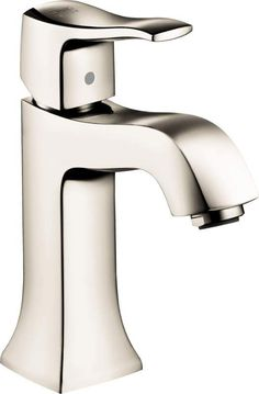 Make Photo Gallery Hansgrohe Metris C Single Hole Bathroom Faucet with EcoRight Quick Clean Polished Nickel Faucet Lavatory