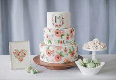 Cake: The SweetSide - http://www.stylemepretty.com/portfolio/the-sweetside Photography: Katie Parra Photography - http://www.stylemepretty.com/portfolio/katie-parra-photography   Read More on SMP: http://www.stylemepretty.com/2014/01/24/wedding-cake-ideas/