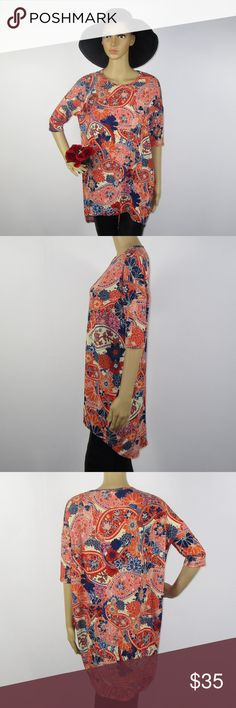 Women's XS Lularoe Irma Shirt Top Floral Size XS This cute shirt is in excellent condition! As always offers and bundles are welcome. Feel free to add one or more items to a bundle for a private discount offer!!!  Armpit to armpit is 24.25 inches across Sleeve length is 7.5 inches  Waist is 23 inches across Hips are 21.75 inches LuLaRoe Tops