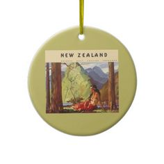 Vintage Travel, New Zealand Landscape Native Woman Christmas Tree Ornament New Zealand Landscape, Vintage Travel, White Porcelain, Christmas Tree Ornaments, Vintage Shops, Family Photos, Nativity, Ceramics, Woman