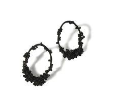 BETH LEGG-UK  'Cluster Loop' Oxidised Silver Earrings / Clustdlysau Arian wedi eu hocsideiddio  £110