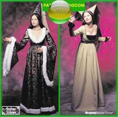 Medieval 13thC. Burgundian Costume Patterns. I dont think its actually 13th, but its a commercial pattern so....yea.