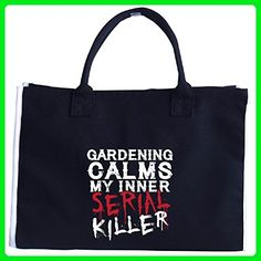 Gardening Calms My Inner Serial Killer - Tote Bag - Top handle bags (*Amazon Partner-Link)