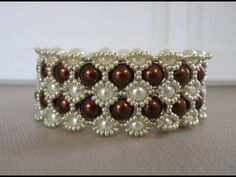 ▶ Beaded Bracelet with 8mm and 6mm Glass Pearls - YouTube