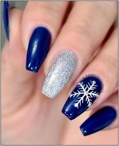 Christmas Nails Acrylic 2019 - Amazing Christmas Nails Designs for New Year Party for -  amazing christmas nails designs for new year party for christmas snowflake acrylic nails 2019 amazing christmas nails designs for new year part. Christmas Nail Polish, Christmas Gel Nails, Holiday Nails, Holiday Acrylic Nails, New Years Nail Designs, Christmas Nail Art Designs, Christmas Decorations, Latest Nail Designs, Winter Nail Designs