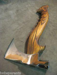 Vintage custom handle tomahawk axe hatchet hammer POLISHED old viking bearded