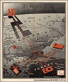Great map of Turkey in World War II