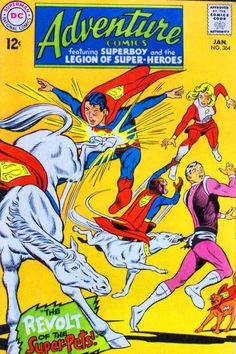 DC Comics' Adventure Comics, No.364 - Legion of Super-Pets & Superboy and the Legion of Super-Heroes.