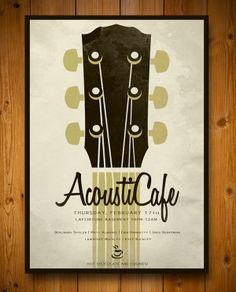 AcoustiCafe/Jazz Festival Posters by Stephanie Sohn, via Behance