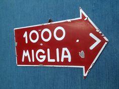Mille miglia Coppa delle 1000 miglia sign Alfa Ferrari Bugatti Mercedes Vintage!