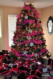 Christmas Tree Shocking Pink And Silver Black Amanda Sarver 2017