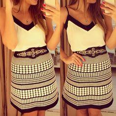 Spaghetti Strap Geometric Dress For Women