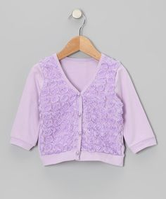 Take a look at this Lavender Rosette Cardigan - Toddler & Girls by Share n' Smiles on #zulily today!