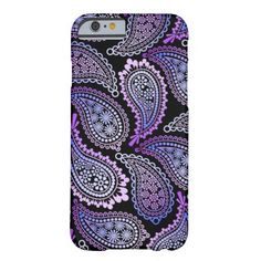 Purple Paisley iPhone case