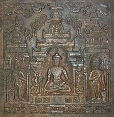 Detail of a Tibetan wood carved book cover, 13th century, Central Tibet- Asian Civilisations Museum, Singapore
