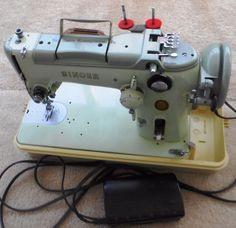 Vintage Singer 319W Sewing Machine Green