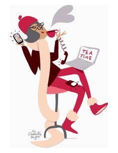Portrait of Marie Bastille by illustrator Charlotte du Jour @Charlotte Willner Willner Willner Willner du Jour*