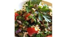 Tender cooked onions and tangy pomegranate molasses make this bulgur salad a standout.