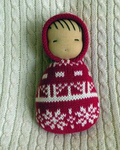waldorf doll-recycled sweater baby