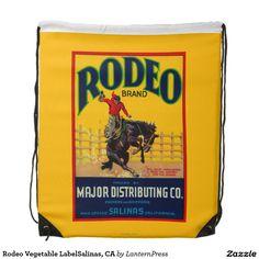 Rodeo Vegetable LabelSalinas, CA Cinch Bags