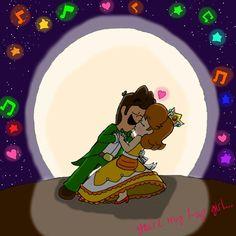 You're my girl by on DeviantArt Princess Daisy, Disney Princess, Luigi And Daisy, Mario Comics, Mario Brothers, Super Mario Bros, Up Girl, Disney Characters, Fictional Characters