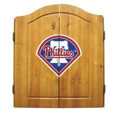 Philadelphia Phillies MLB Dart Board w/Cabinet