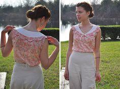 02.07.11 | modern thirties blouse by elegant musings, via Flickrn - Love that scalloped collar