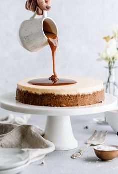 Best Ever Caramel Cheesecake - Yoga of Cooking