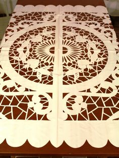 Palomas Big Papel Picado-- it can be the long you want!  Contact us for more information!!!  Maracas Mexico!