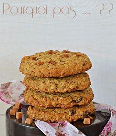 Pourquoi pas .... ??: Cookies flocons d'avoine / raisins / fudge