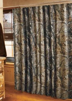 Realtree Ap Camo Shower Curtain for RR Camo Curtains, Shower Curtains, Camo Home Decor, Camo Bathroom, Future House, My House, House Goals, Dream Bedroom, Look Cool