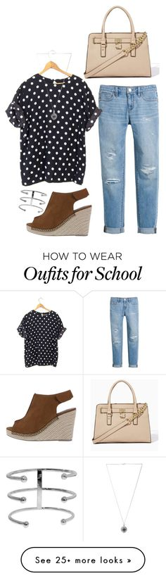"""School days"" by emccomb-14 on Polyvore featuring White House Black Market, Otis, Jennifer Fisher and Forever 21"