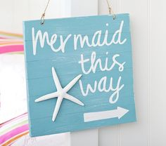 Love a Mermaid theme for our little girls room. Sold out at Pottery Barn Kids but I think I can recreate it =)