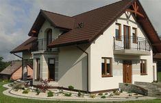 Projekt domu Gracjan 131,33 m2 - koszt budowy 249 tys. zł - EXTRADOM Home Fashion, Facade, Home Goods, House Plans, House Design, Cabin, How To Plan, Mansions, House Styles