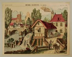 Décors Champêtre. Le moulin. Imagerie d'Épinal, No 1594.