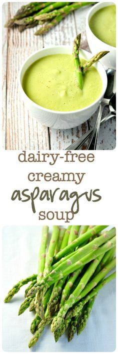 Dairy-Free Creamy Asparagus Soup--rich and creamy without the cream! |www.flavourandsavour.com