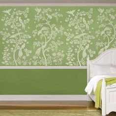 Chinoiserie Stencil Chinoiserie Chic Wall Mural Stencils Hallway