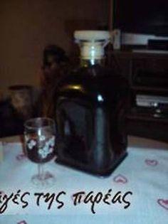 Λικέρ καφέ Whiskey Bottle, Vodka Bottle, Liquor, Homemade, Drinks, Cooking, Sweet, Food, Recipes