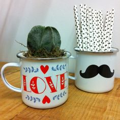 Taza LOVE & MOUSTACHE