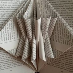 #bookart #bookfolding #foldedpaper #paperart #paper #upcycledcollections #books #upcycled #recycle #handmade #foldedbook #foldedbookart Folded Book Art, Book Folding, Paper Art, Upcycle, Recycling, Collections, Cute, Books, Handmade