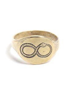 Talon Ouroboros Signet Ring