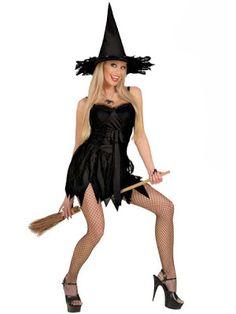 Halloween Kostume Kvinde Sort heks