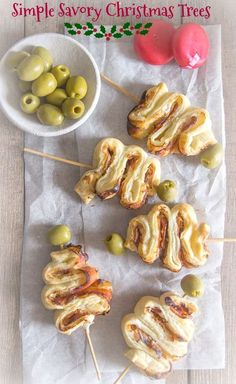 Simple Savory Christmas Trees, a fast & easy delicious puff pastry #Christmas #appetizer made with #cream cheese and #salami or cold cut of choice. via @https://it.pinterest.com/Italianinkitchn/