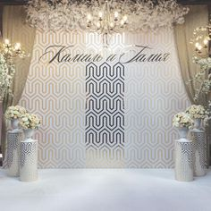 Follow us @SIGNATUREBRIDE on Twitter and on FACEBOOK @ SIGNATURE BRIDE MAGAZINE Wedding Entrance, Wedding Wall, Wedding Stage, Dream Wedding, Reception Stage Decor, Ceremony Backdrop, Event Decor, Indoor Ceremony, Indoor Wedding