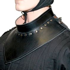 Leather mantle gorget