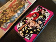Look what just came in the mail! 2NE1 silicone phone case. Original illustration by Pradi Patt of flyingtoenail etsy store.