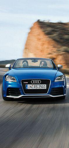 Blue Audi TT RS Coupe. #Audi #blue