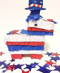 Fourth of July piñata Red white and blue piñata USA piñata